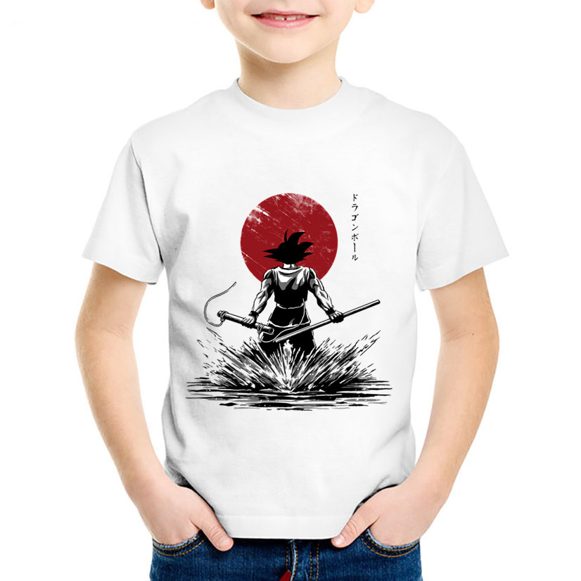 Children Fashion Print Dragon Ball Pure Of Heart Warrior T-shirts Kids Anime Clothes Casual Tops Baby Tees For Boys/Girls,HKP201
