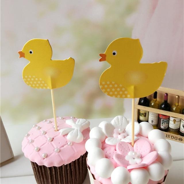 Aliexpress.com : Buy wholesale 36 PCS Cute Yellow duck Cupcake ...