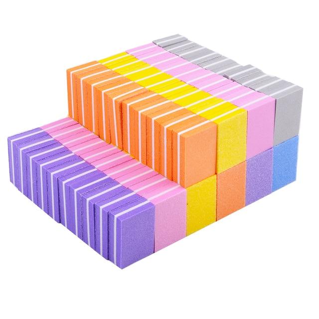 20pcs/lot Double-sided Mini Nail File Blocks Colorful Sponge Nail Polish  4