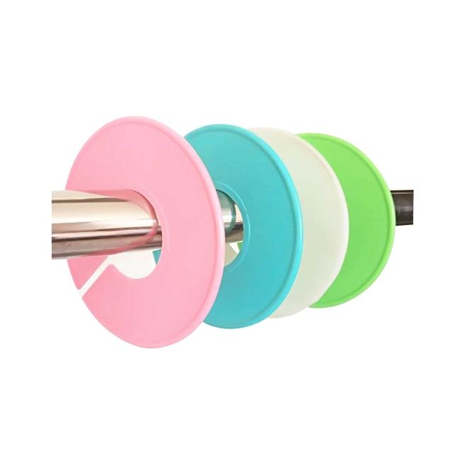 Taille en plastique étiquettes taille diviseur pour cintres à la main rond cintre taille marqueur magasin de mode rond support taille étiquette
