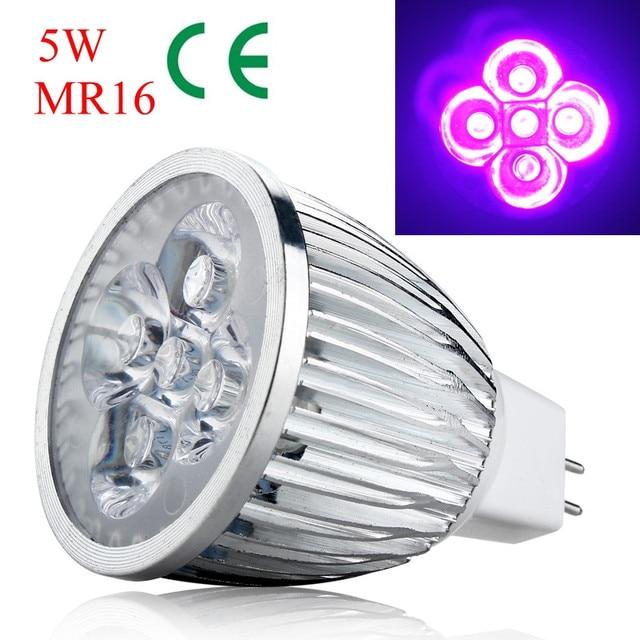 10pcs 5W MR16 Base UV LED Ultraviolet LED Spotlight Bulb Home Lamp ...