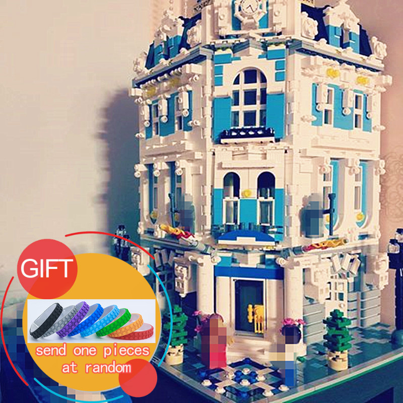 15018 3196pcs City Series The Sunshine Hotel Set Building Blocks Educational Toys DIY Children Gift new 3196pcs lepin 15018 moc city series the sunshine hotel set building blocks bricks educational toys diy children day s gift