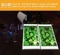 6 inch 2560*1440 2K LCD Module Screen DIY DLP 3D Printer SLA Screen Monitor UV curing VR Virtual Reality Display Projector Kit
