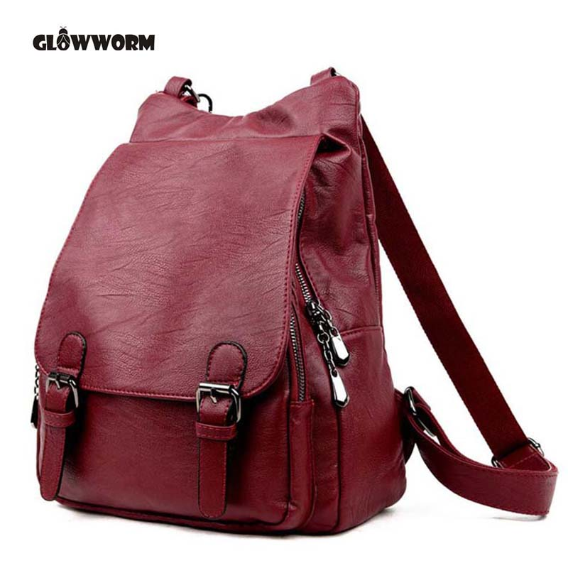 Women Genuine Leather Backpacks Brand Ladies Fashion Backpacks For Teenagers Girls School Bags Real Leather Travel Bags Mochila цена