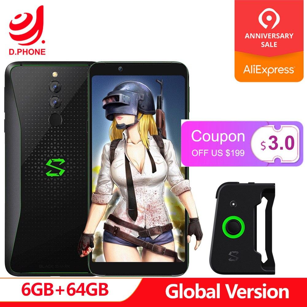 Version globale requin noir 6 GB RAM 64 GB ROM Xiaomi Gaming PhoneSnapdragon 845 Octa Core plein écran 5.99