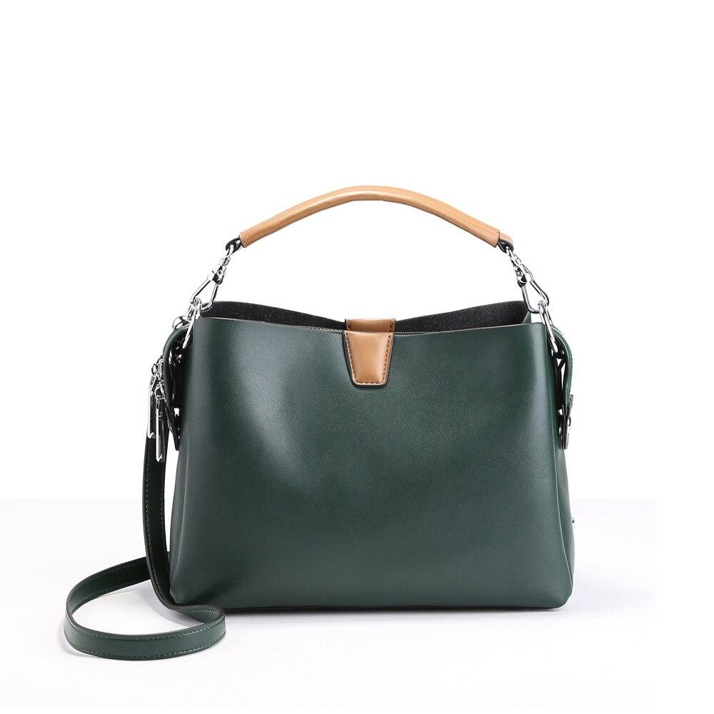 New Fashion Style Women Shoulder Bag Split Leather Lady Handbag Famous Brand Design Crossbody Bag Female