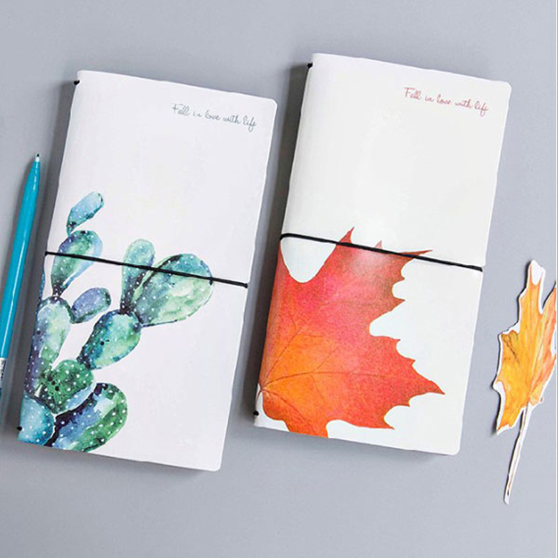 Creative Cactus Leaves PU Leather Cover Planner Notebook Diary Book Agenda Exercise Sketchbook Binding Notepad Gift Stationery sketchbook diary agenda planner organizer planner spiral notebook a5 planner binder address book notebook filofax exercise book