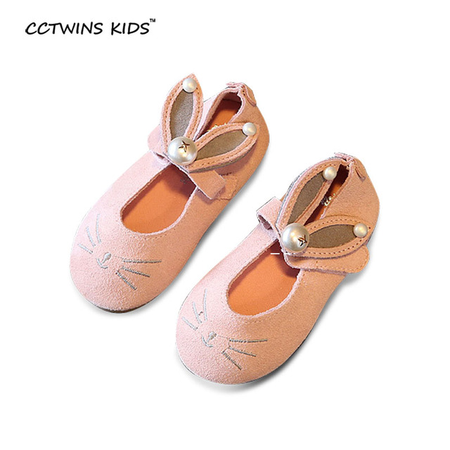 CCTWINS KIDS spring autumn fashion party pearl shoe for children baby girl brand bunny princess flats toddler pu leather ballet