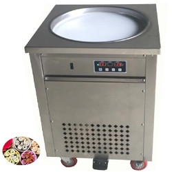 Yogurt Frying Machine Round Pan Ice Cream Frying Machine High Quality Single Round Fry Ice Cream Maker Roll 110v 220v