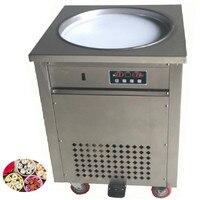 Yogurt Frying Machine Round Pan Ice Cream Frying Machine High Quality Single Round Fry Ice Cream Maker Roll 110v 220v