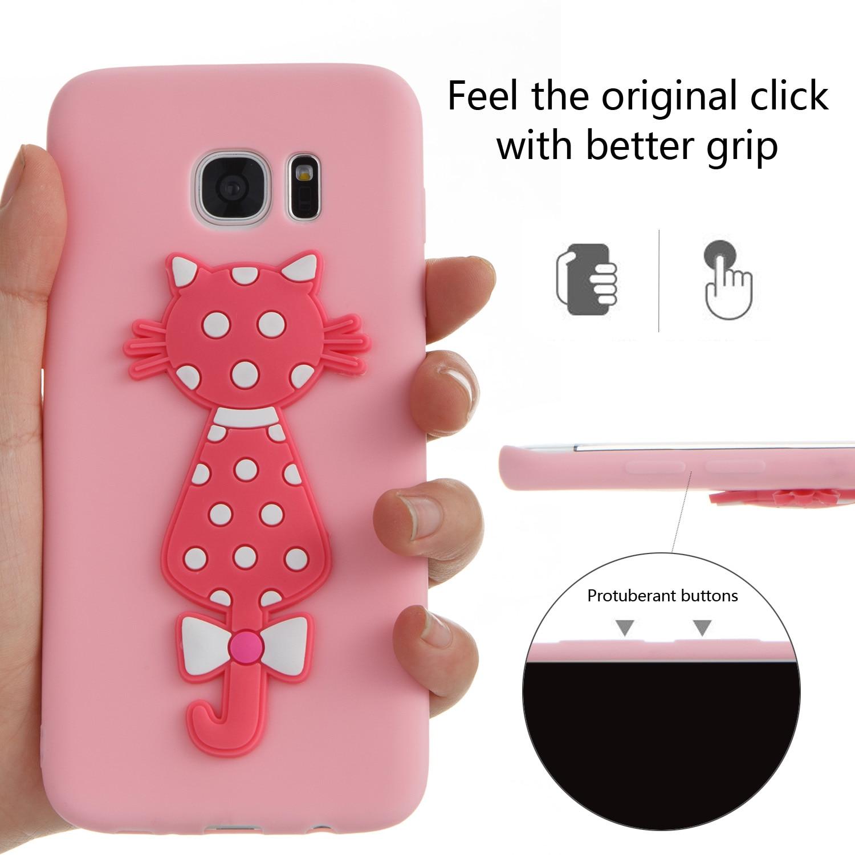 TPU Cute Cartoon Silicone Phone Case Bag Cover Cubierta Kryty Shell For Sumsung Samsug Samsung Galaxy Galax S7 Edge SM G935F