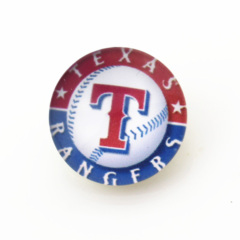 10pcs MLB Texas Rangers Snap buttons Glass 18m Baseball Sports snaps button Diy Snaps Jewelry font