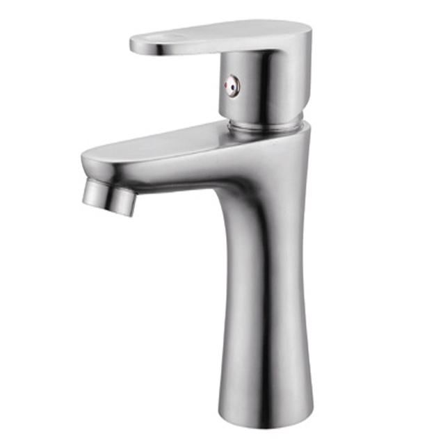 Stainless steel brushed washbasin counter basin mixer - Stainless steel vessel sinks bathroom ...