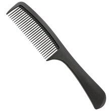 1 gab. Anti-karstuma oglekļa rokturis oglekļa šķiedras frizieru ķemme profesionāls matu kopšanas ķemme ideāli piemērots gariem matiem