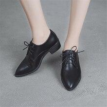Scarpa femminile di autunno della molla 2018 nuovo stile europeo assume brit piccole scarpe di spessore e singolo scarpe a punta scarpe sociali