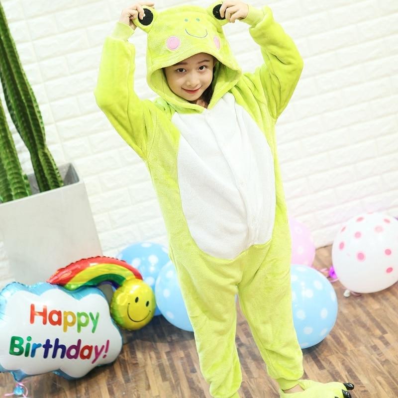 Kid Baby Boys Girls Frog Monster Onesie Pajama sets Winter Sleepwear Party dress Cartoon Panda Bird Animal Hooded Costume
