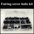 Fairing bolts kit for SUZUKI GSXR600 GSXR750 2006 2007 K6 K7 GSXR 600 750 06 07 Fairing screws kits Black silver Full set