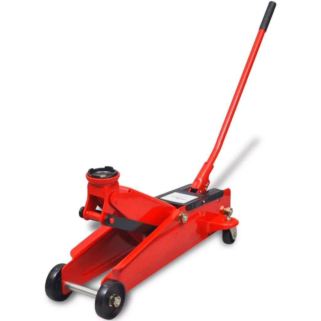 VidaXL cric hydraulique rouge 3 t pour voiture à plancher bas berline hydraulique cric de levage de sol Support de roue réparation automatique pneu Support de pneu