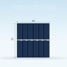 10x โซล่าเซลล์ 60x55mm 3 v 150ma พลังงานแสงอาทิตย์แผง Mini Sunpower DIY แผงระบบสำหรับโคมไฟพลังงานแสงอาทิตย์ของเล่นแบตเตอรี่ชาร์จโทรศัพท์