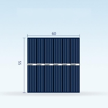 10x Zonnecellen 60x55mm 3 v 150ma Zonnepaneel Mini Sunpower DIY Panel Systeem Voor Solar Lamp batterij Speelgoed Telefoon Oplader