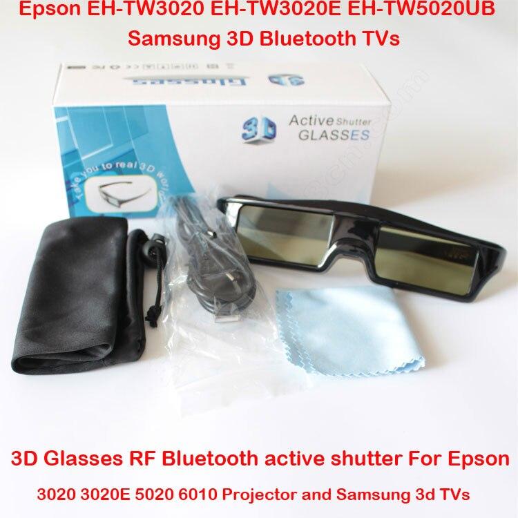 2PCS 3D <font><b>Glasses</b></font> RF <font><b>Bluetooth</b></font> <font><b>Active</b></font> <font><b>Shutter</b></font> <font><b>For</b></font> <font><b>Epson</b></font> EH-TW3020 EH-TW3020E EH-TW5020UB EH-TW550 Projecotor <font><b>FOR</b></font> <font><b>Samsung</b></font> 3D TVs