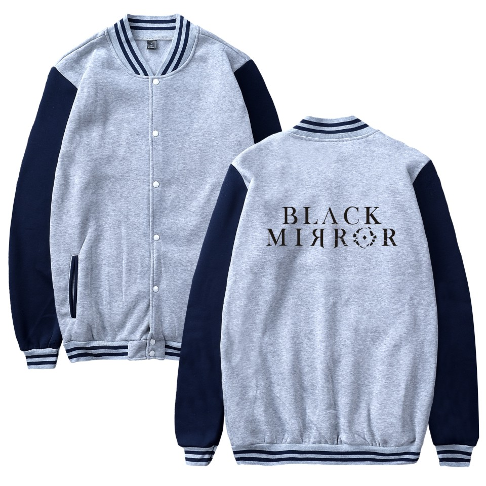 vast selection best service competitive price US $15.59 30% OFF|latest fashion brand Black Mirror print sport Baseball  Jacket men women Sweatshirts coat casual long sleeve hoodies Jackets  tops-in ...