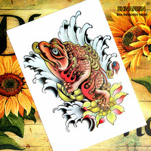 Lucky toad Chinese style Temporary Body Arts, Flash Tattoo Stickers 21*15cm, Waterproof Henna Tatoo Sex Products