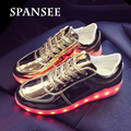 Tamaño 30-45 fashion shoes con luz led up sneakers cesta llevó zapatillas femeninas boy girls shoes for kids shoes luminoso que brilla intensamente 4