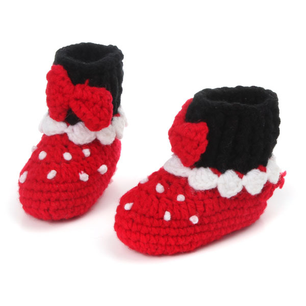 Baby shoes hand-woven baby soft bottom toddler high tall canister boots Men and women ba ...