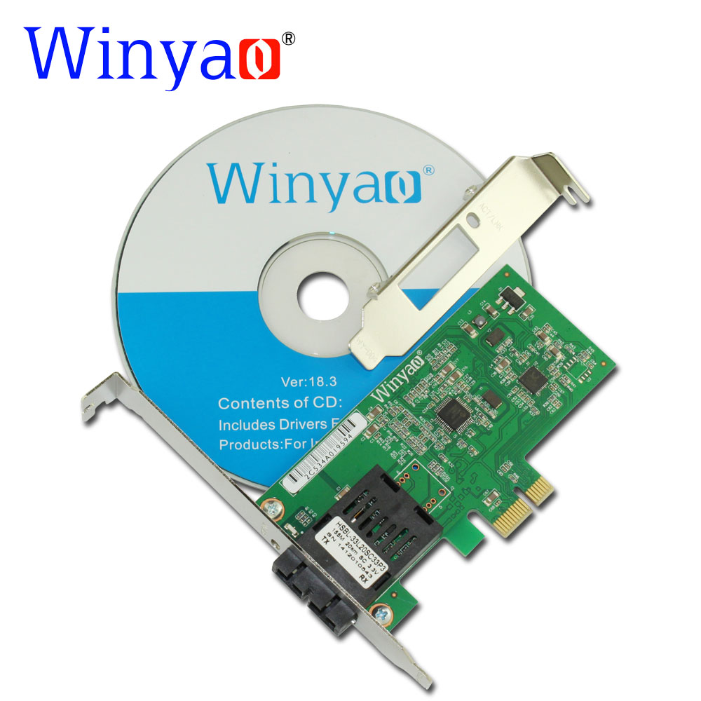Winyao WY8105FX-SC PCI-E X1 100FX SC (1310nm 20KM) Desktop Fiber Ethernet Network Card Adapter For RTL8105E 100Mbps NIC winyao usb100f usb2 0 to 100fx sfp desktop fiber ethernet network card adapter ax88772b nic for pc macbook air laptop notebook