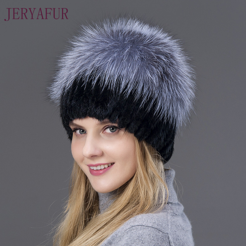 New Style Hot Sale Winter Warm Real Mink Fur Caps
