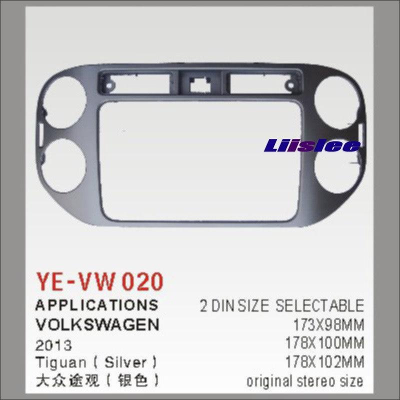 Liislee 2 DIN ABS cadre panneau Fascia pour Volkswagen Tiguan 2013 voiture de rechange stéréo Radio lecteur DVD GPS Navi Installation