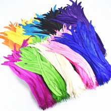 50Pcs/Lot Rooster Tail Feather 35-40cm14-16inch Cheap Natural Feathers for Crafts Wedding Decoration Clothing Accessorie