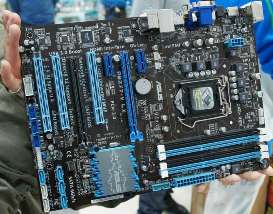 100% original ASUS motherboard P8Z77 V LX LGA 1155 DDR3 i3