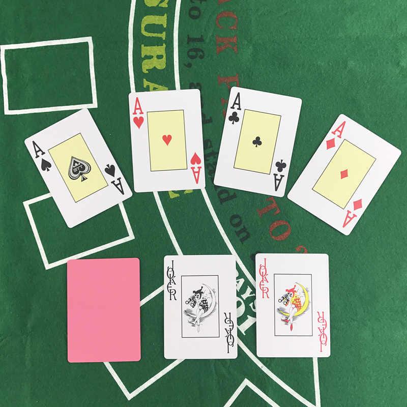 Yernea 4 ensembles/lot carte à jouer Texas cartes de Poker en plastique cartes à jouer Surface givrée imperméable gel Poker jeux de société
