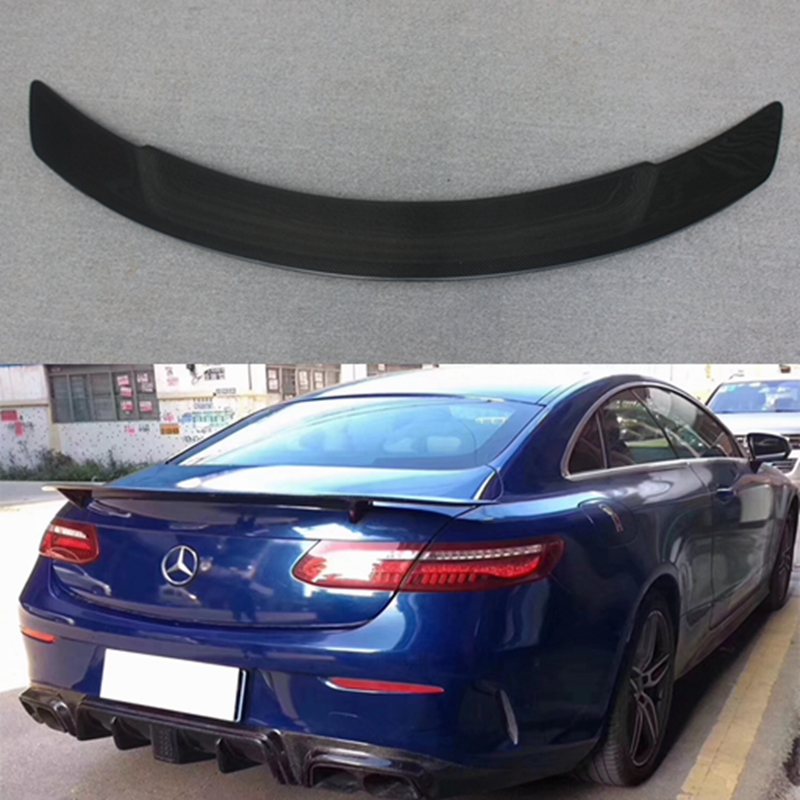 for Mercedes <font><b>C238</b></font> W238 Carbon Fiber Rear <font><b>Spoiler</b></font> Trunk Wing for Benz E Class 2-door Coupe 2017 - present E250 E300 E350 E400 image