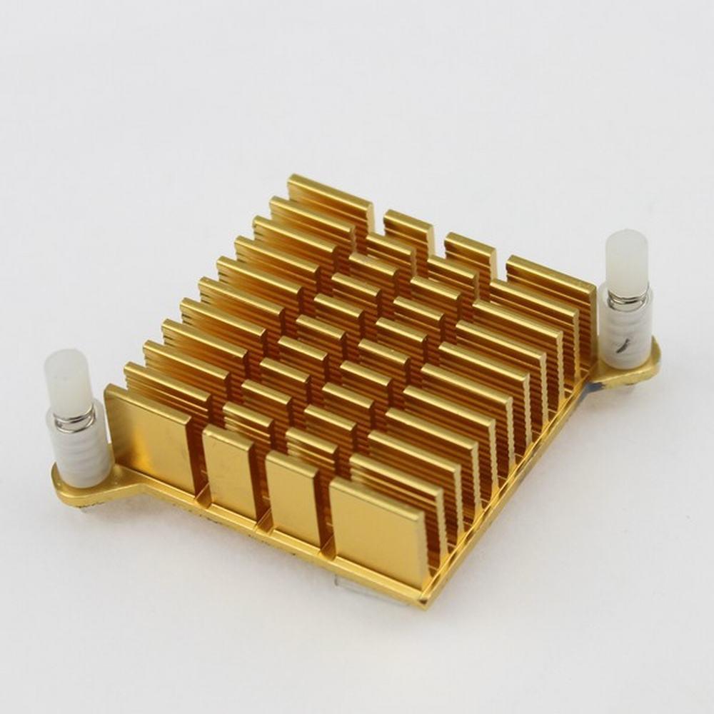 Gdstime 2 pcs/lot 40mmx40mmx13mm 4cm Aluminum Heatsink Golden North Bridge Chip CPU GPU VGA RAM LED IC Heat Sink free shipping