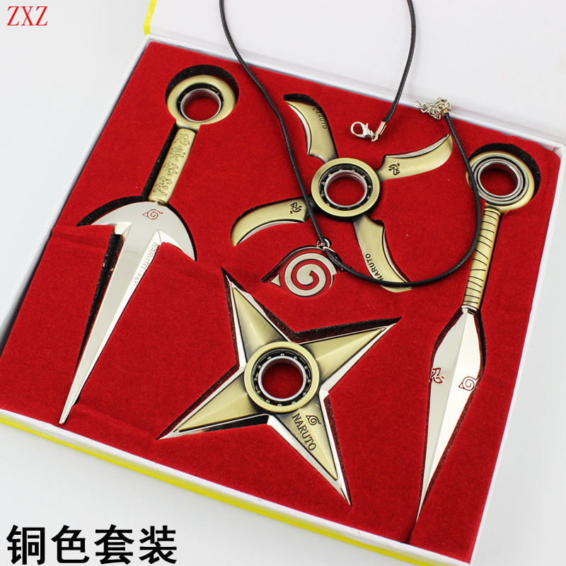 COOL Naruto cosplay 16cm kunai + 11cm shuriken ninja weapon anime costume accessories Boy Gift Children Toy Peripherals in BOX лазерный нивелир ada phantom 2d professional edition