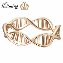1pcs Gold Silver Infinity DNA Chemistry Ring Wholesale Jewelry Encircle Ring Fashion for Women Girls Gift Statement Rings