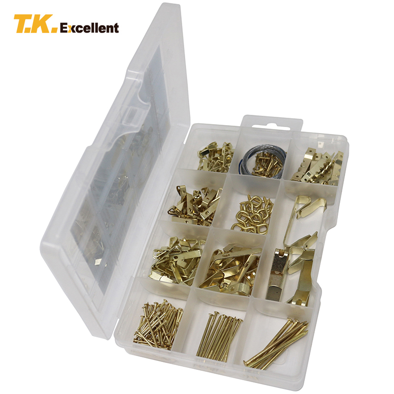 T.K.EXCELLENT Brass Nail Hooks Bedroom Living Room Photo Wall Nail Set Wall Stickers Creative DIY Load-bearing Strong Hook fixmee 50pcs white plastic invisible wall mount photo picture frame nail hook hanger