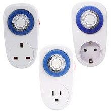 Mini Timer Switch EU/US/UK Plug 24 Hours Programmable Mechanical Timer 230V Energy-saving Switch Socket