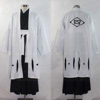 Bleach Kuchiki Byakuya Cosplay Kimono Cosplay White Mens Bleach Cosplay Costume