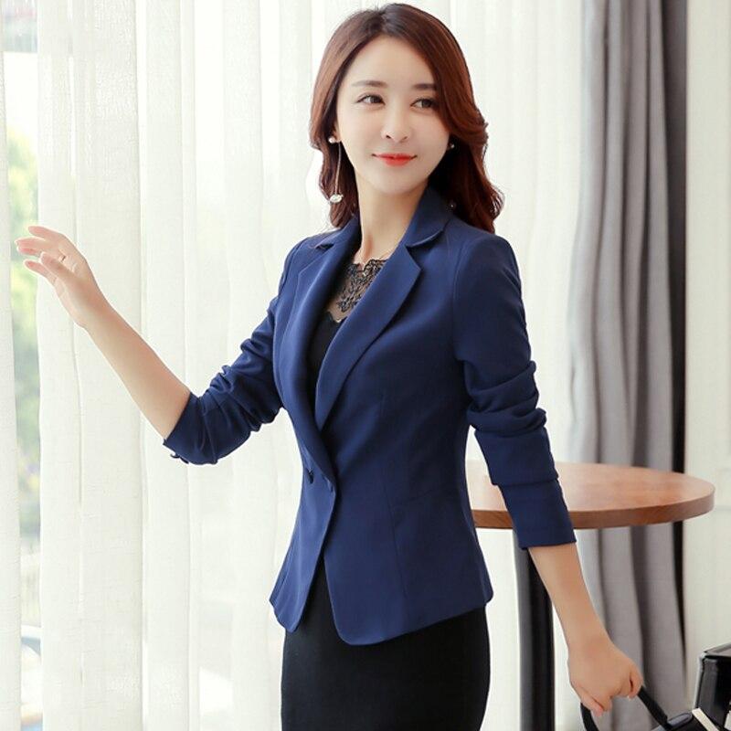 Elegante Otoño de manga larga mujeres Blazer Color del caramelo traje chaqueta chaquetas mujeres Blazers Tops abrigos 828 #
