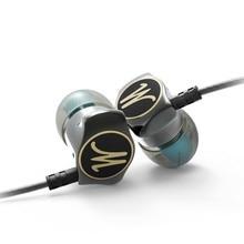 Earphone PTM D06 HiFi Headphone Metallic Earbuds Stereo Headset Zinc Alloy for Earpods Airpods