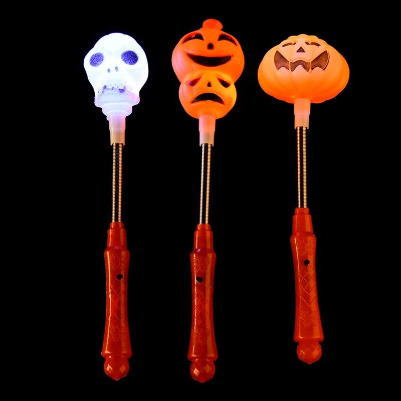 1pc pumpkin ghosts glow stick halloween glow sticks plastic led light stick halloween costume glow party - Glow Sticks For Halloween