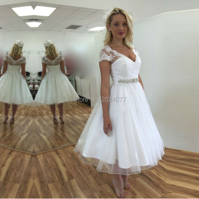 Robe De Mariee Courte 2017 Alibaba Retail Short Wedding Dress Off White Organza Knee Length
