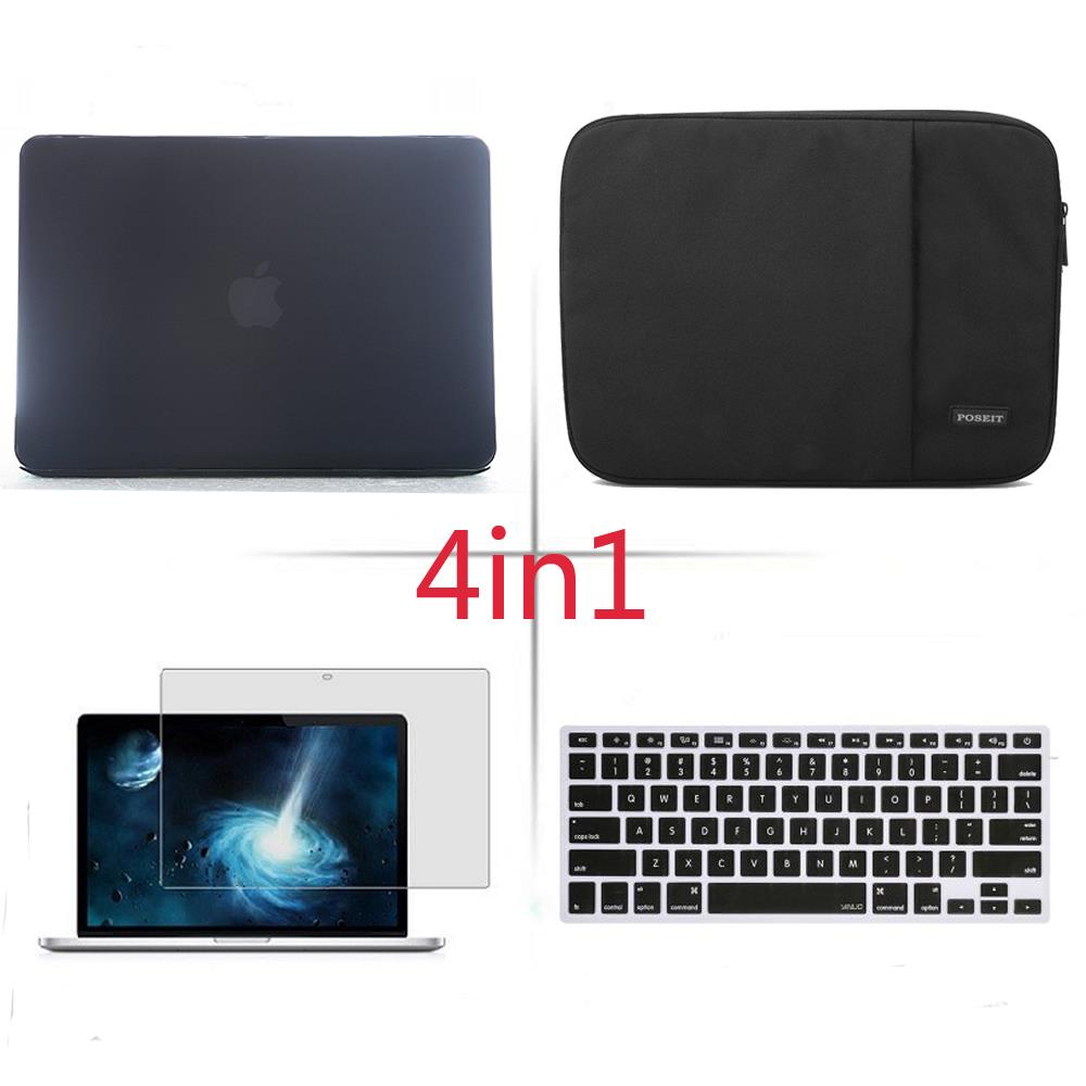 цена на 4in1 Matte Hard case sleeve keyboard cover LCD FOR Macbook Pro Air Retina 11 12 13 15 Notebook Bag 2018 Touch Bar A1990/A1989