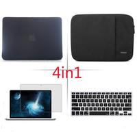4in1 Matte Hard case sleeve keyboard cover LCD FOR Macbook Pro Air Retina 11 12 13 15 Notebook Bag 2018 Touch Bar A1990/A1989