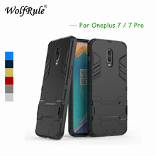Anti-knock Case Oneplus 7 Pro Cover Soft Rubber+ Plastic For Holder Stand Funda / OnePlus