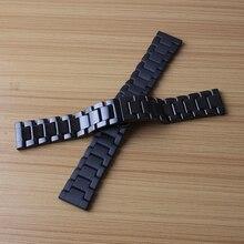 Venda de reloj de cerámica Venda de Reloj de 22mm para Samsung S3 de Engranajes Classic Frontera Mariposa Broche de Correa Para La Muñeca promoción mate pulido nueva